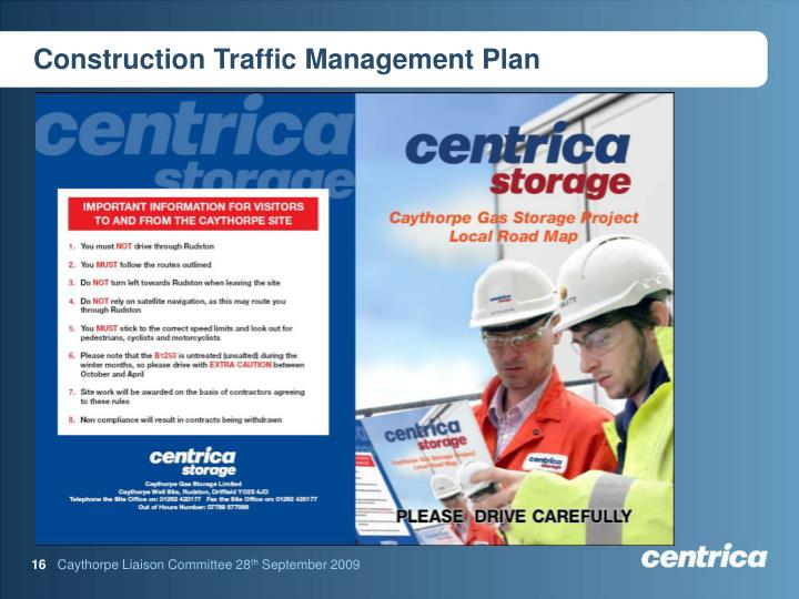 Construction Traffic Control : Ppt caythorpe gas storage project powerpoint