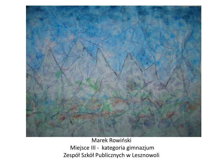 Marek Rowiński