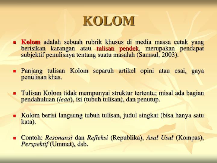 Ppt Menulis Opini Artikel Esai Kolom Powerpoint Presentation