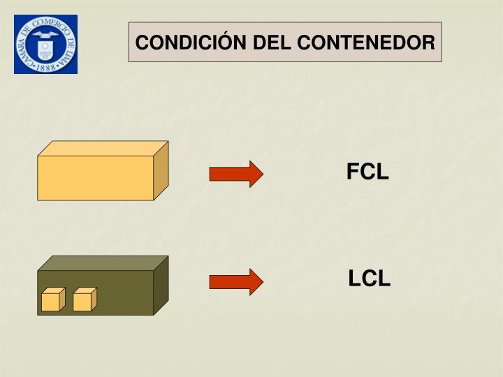 CONDICIÓN DEL CONTENEDOR