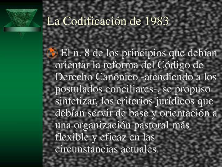 La Codificación de 1983