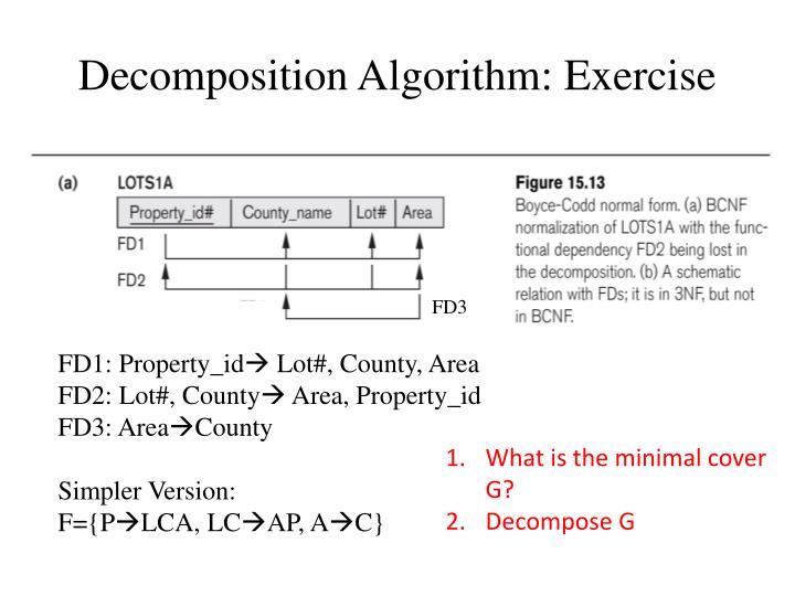 Decomposition Algorithm: Exercise