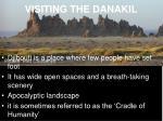 visiting the danakil