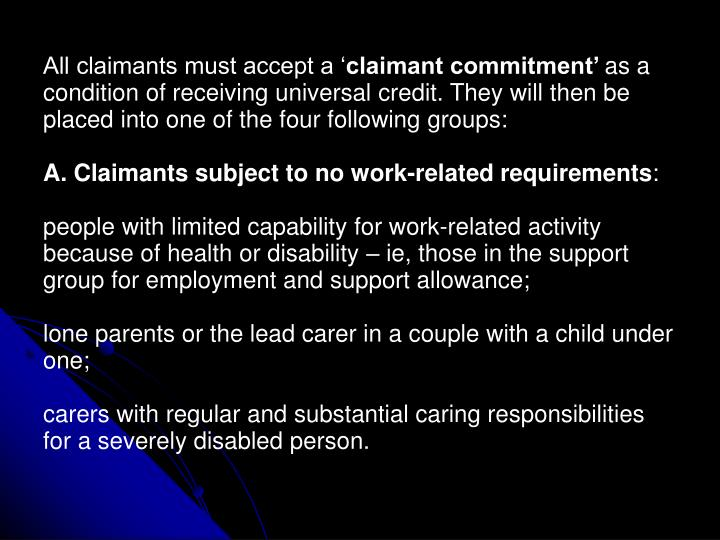 All claimants must accept a '