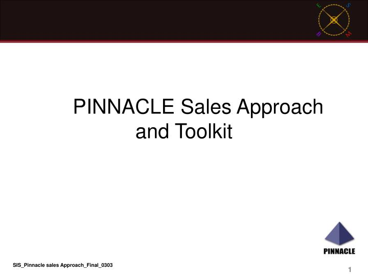 pinnacle sales approach and toolkit n.