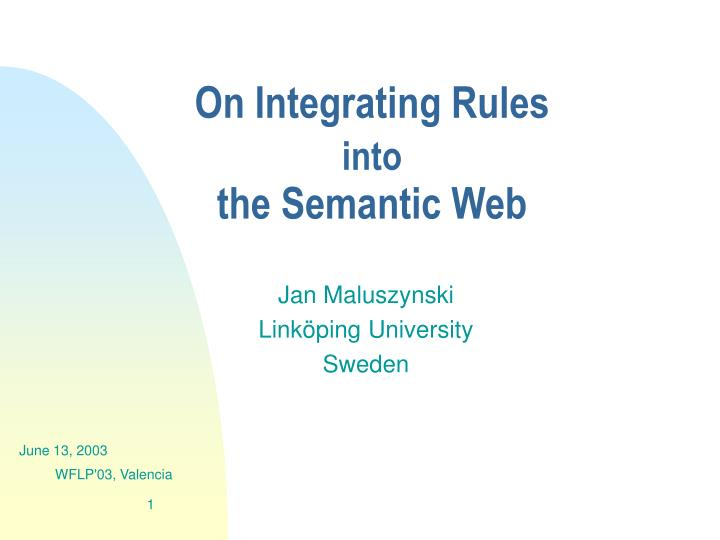 Jan maluszynski link ping university sweden