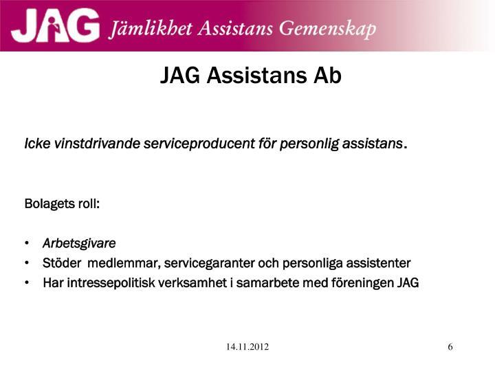 JAG Assistans Ab