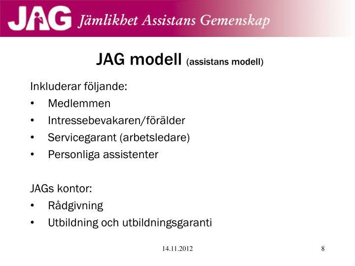 JAG modell
