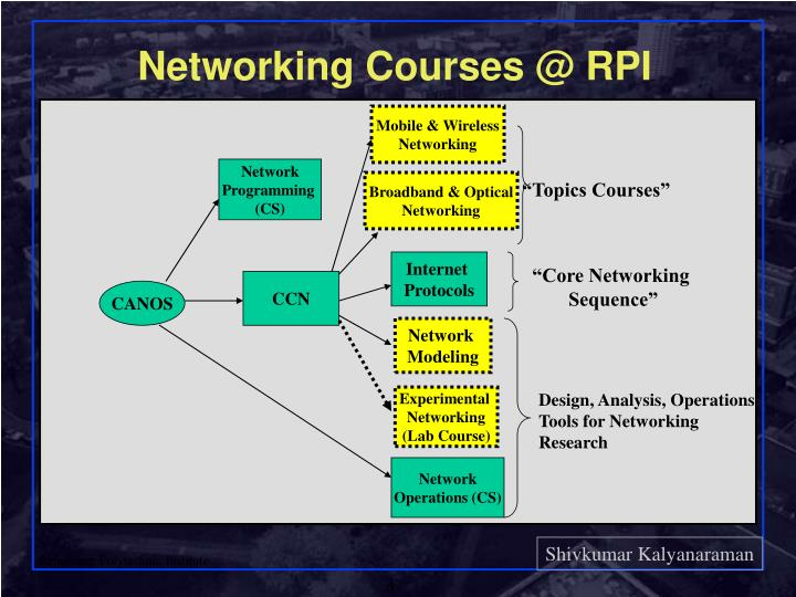 Networking courses @ rpi