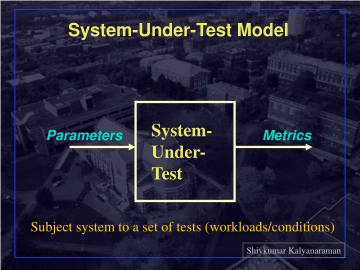 System-Under-Test Model