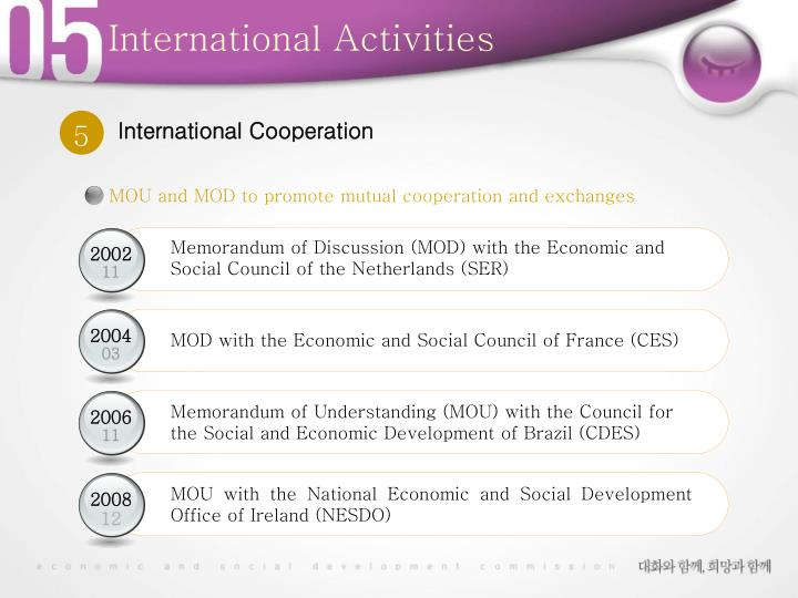 MOU and MOD to promote mutual cooperation and exchanges