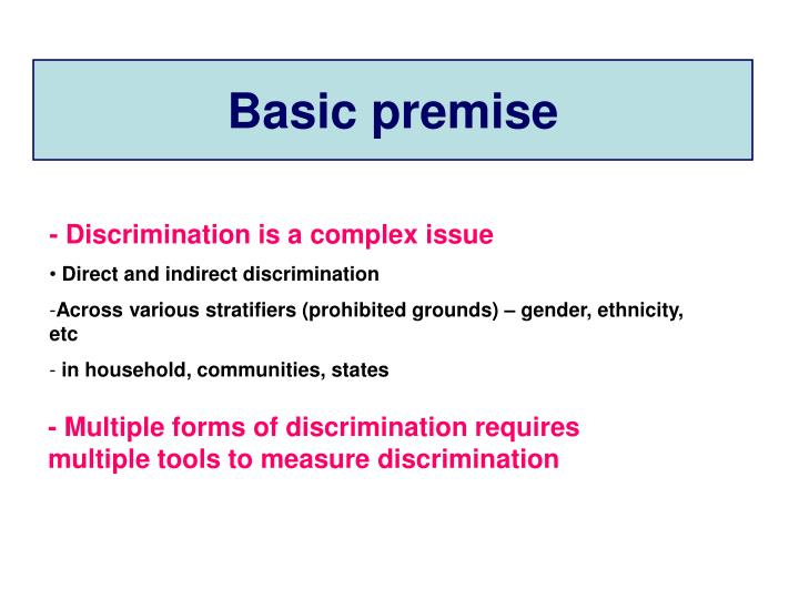 various forms of discrimination