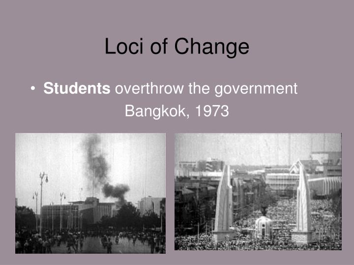 Loci of Change