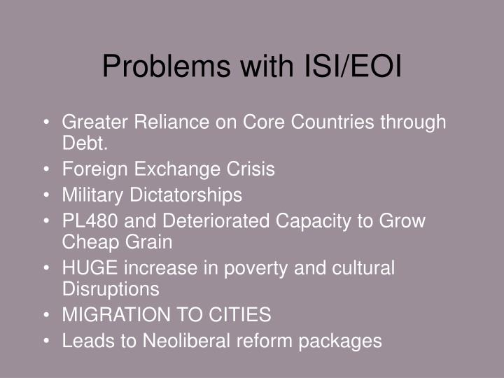 Problems with ISI/EOI