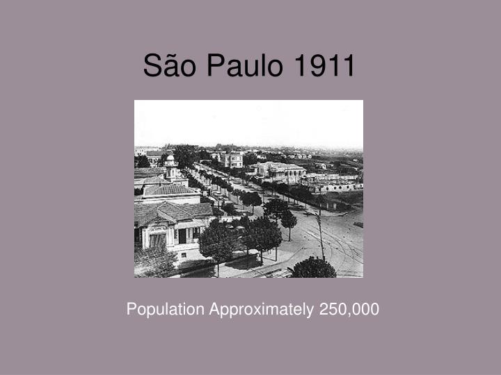São Paulo 1911