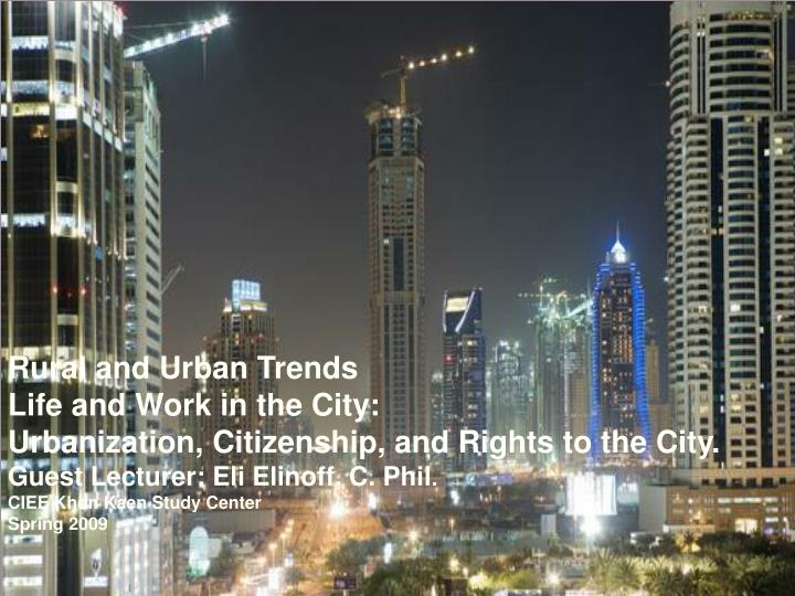 Rural and Urban Trends