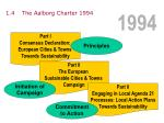 1 4 the aalborg charter 1994