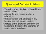 questioned document history