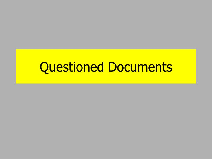 questioned documents n.