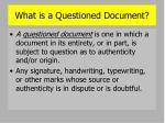 what is a questioned document