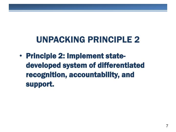 Unpacking principle 2