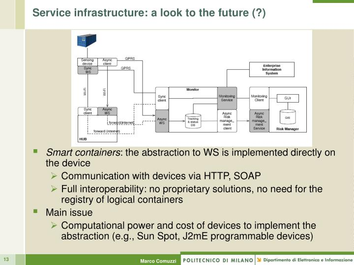 Service infrastructure: a look to the future (?)