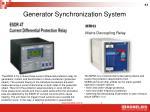 generator synchronization system