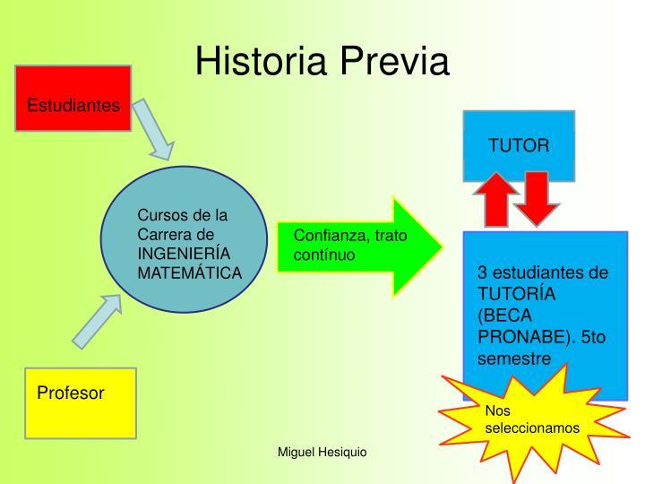 Historia previa