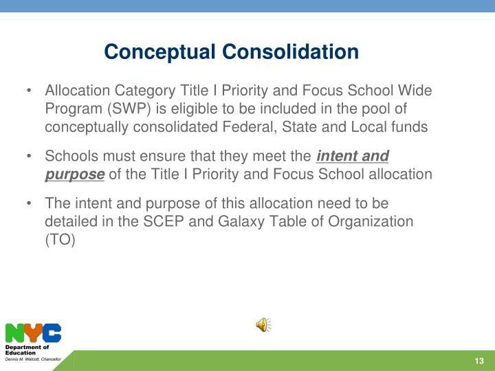Conceptual Consolidation