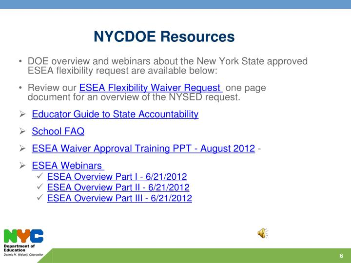 NYCDOE Resources