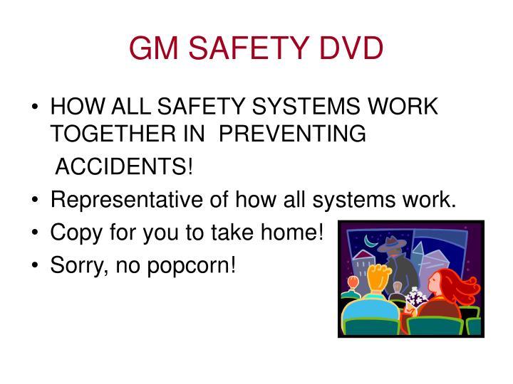 GM SAFETY DVD