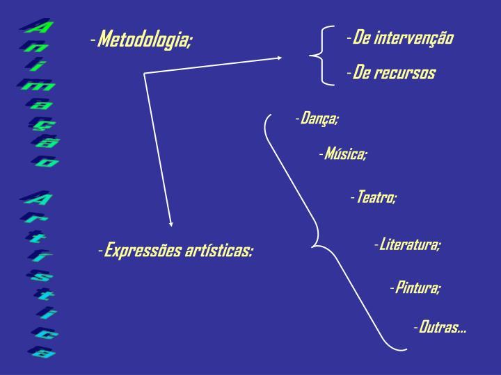 Metodologia;