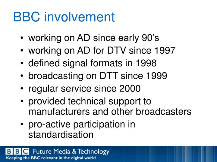 Bbc involvement