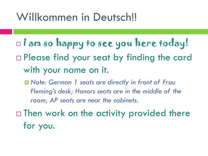 Willkommen in deutsch
