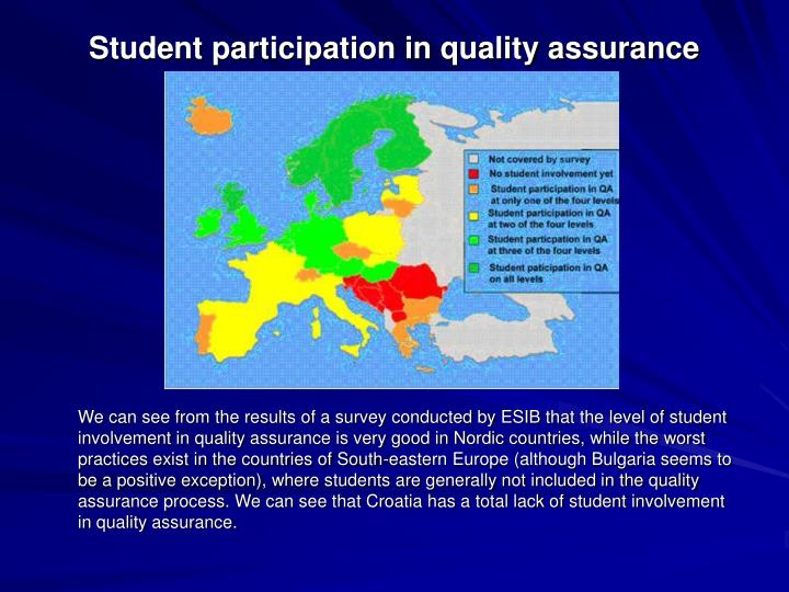 Student participation in quality assurance
