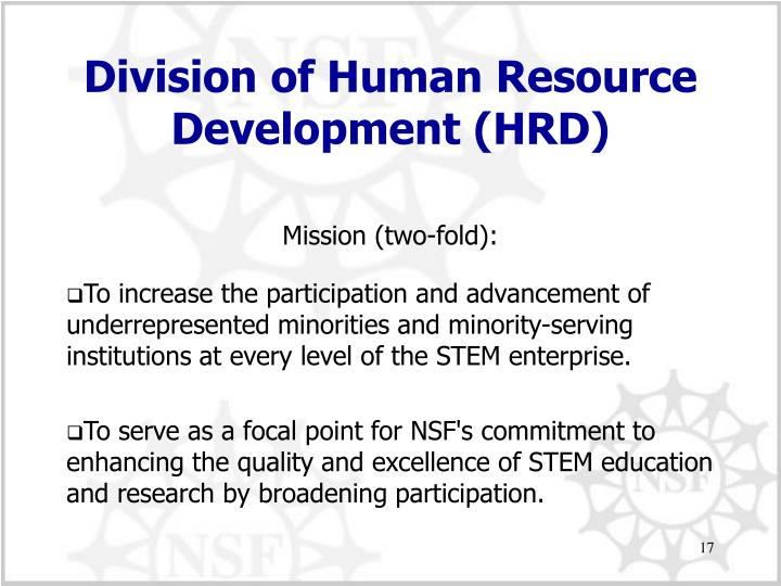 Division of Human Resource Development (HRD)