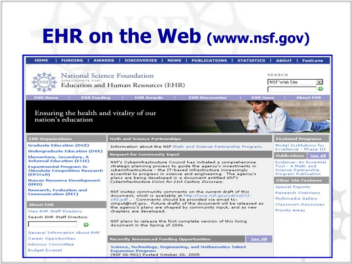 EHR on the Web