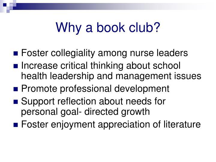 Why a book club?