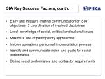 sia key success factors cont d