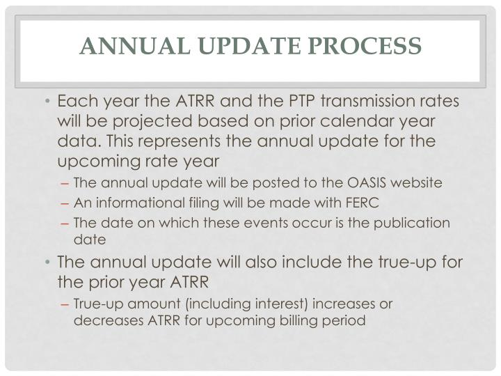 Annual Update Process