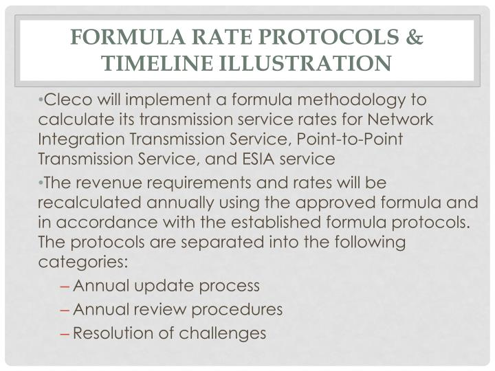 Formula Rate Protocols & Timeline Illustration