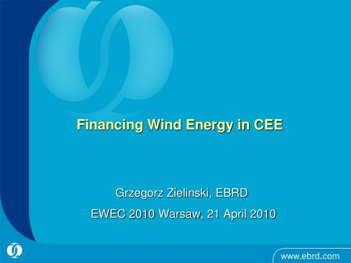 financing wind energy in cee n.