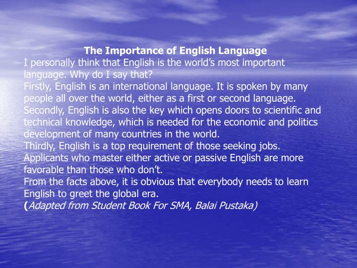 importance of english languageimportance of english Play and long descriptive passages topics: play importance of english languageimportance of english languageimportance of english language.