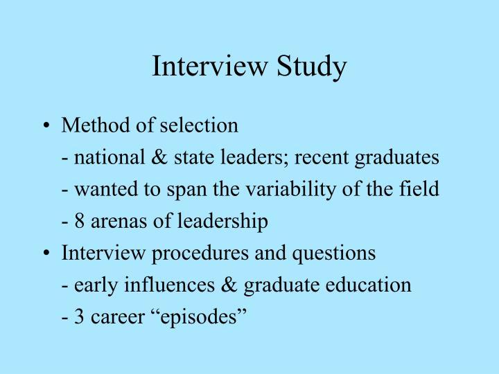 Interview Study