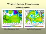 winter climate correlations
