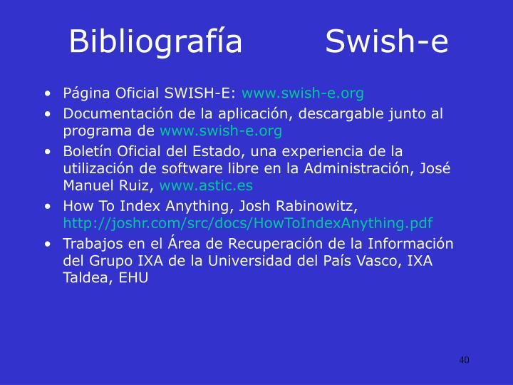 BibliografíaSwish-e