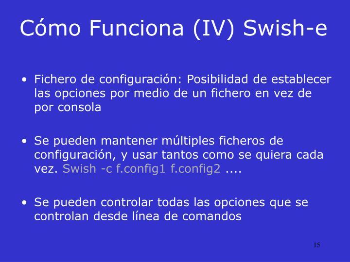 Cómo Funciona (IV) Swish-e