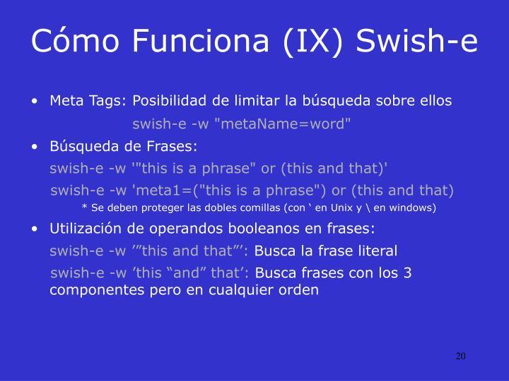 Cómo Funciona (IX) Swish-e