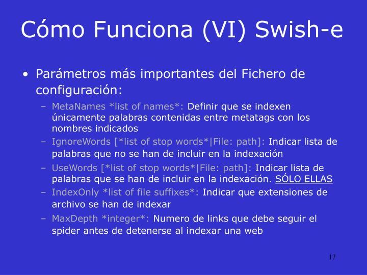 Cómo Funciona (VI) Swish-e