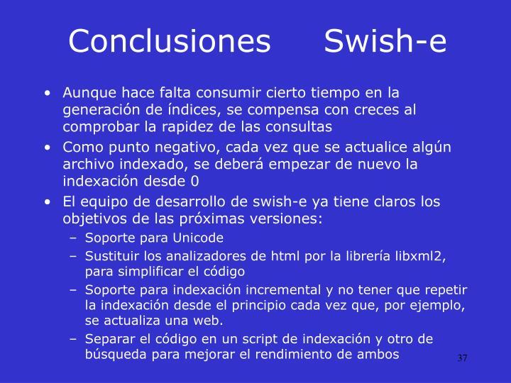 ConclusionesSwish-e